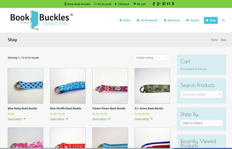 Book Buckles Website is Ready for Use