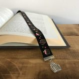 Cupcake Book Buckle Bookmark with Charm