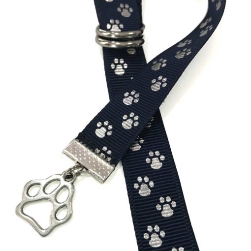 Silver Paws ribbon bookmarks with charm - Book Buckles